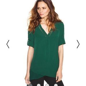 WHBM Green asymmetrical tunic small